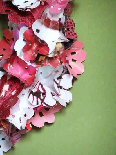 fiori di carta di riviste