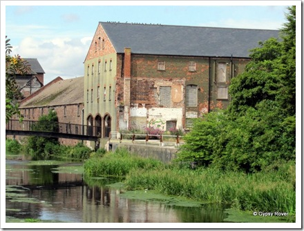 Old warehouses on the inland navigation above the port of Grimsby.