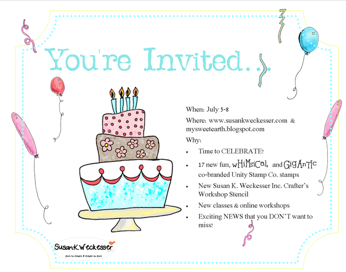 Susan K. Weckesser Big New Invitation