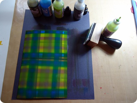 Alcohol Ink Tutorial - Plaid 015