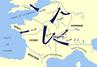 Mapa de la Guerra de las Galias.