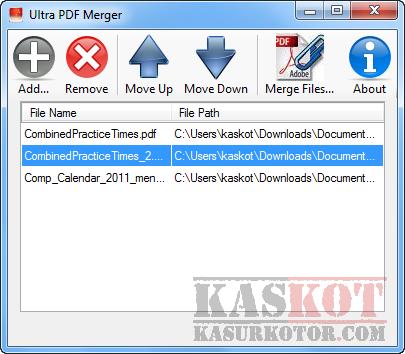 Menggabungkan File PDF Menjadi Satu - Ultra PDF Merger