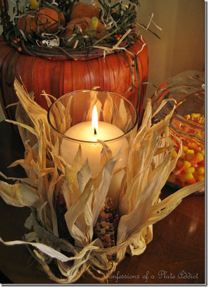 Louisville Wedding Blog - DIY Wedding Project - Easy to Make Fall Corn Candle via Confessions of a Plate Addict