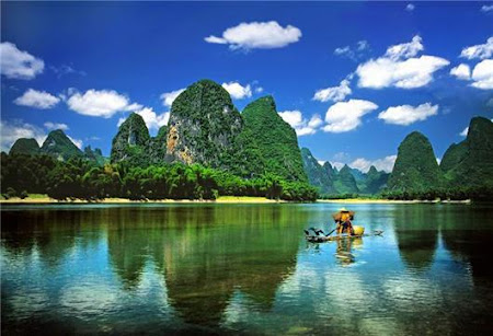Frumuseti naturale China: Guilin pe raul Li