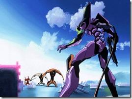 EVAs contra Anjos em Neon Genesis Evangelion