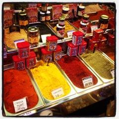 spices at la Boqueria