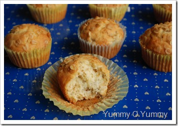 Oats and banana muffins