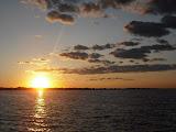 Sunset over Lake Winnebago at Jesuit Retreat House in Oshkosh, WI