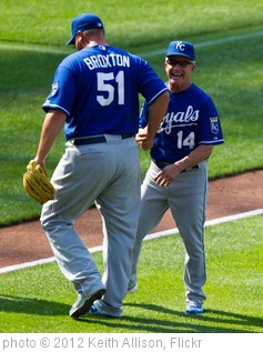 'Jonathan Broxton, Eddie Rodriguez' photo (c) 2012, Keith Allison - license: http://creativecommons.org/licenses/by-sa/2.0/