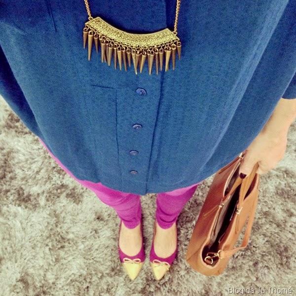 Look calça rosa e camisa verde (1)