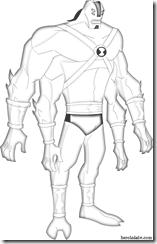 4 quatro bracos supremo Desenhos para colorir e pintar Ben 10 Supremacia Alienígena