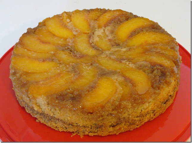 Peach Upside Down Cake--TWD 9-2-12