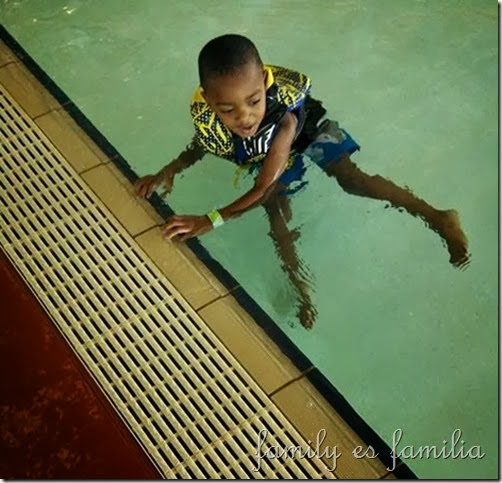 Kendry at the pool