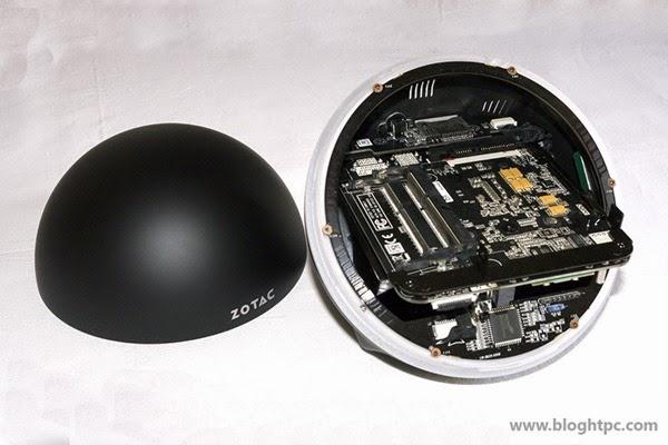Interior ZOTAC ZBOX SPHERE OI520