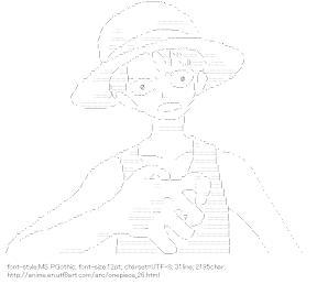 [AA]Monkey D. Luffy (Onepiece)