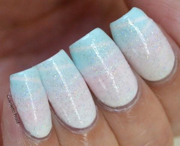 Taping Gradient Nail Art