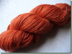 Madder on alpaca