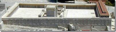 Jerusalem model Temple Mount from west, tb051601210
