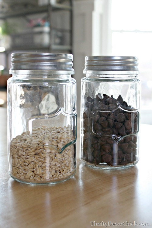 small glass jars with lids