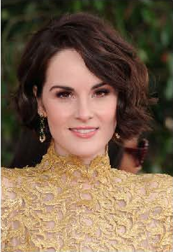 Michelle Dockery's look, by makeup artist Jordan B. Long, was far from Downton Abbey-esque. Apply the burgundy brown shadow of Chanel's Quadra Eyeshadow in Raffinement all over your lid, then brush Chanel Illusion D'Ombre Long Wear Luminous Eyeshadow in Apparence onto the center. Blend. Photo courtesy of Chanel.