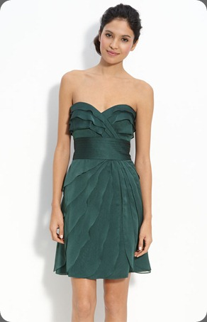 katie _6510730 nordstrom Adrianna Papell Tiered Iridescent Chiffon Dress in spruce