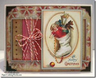 vintage stocking card fv500