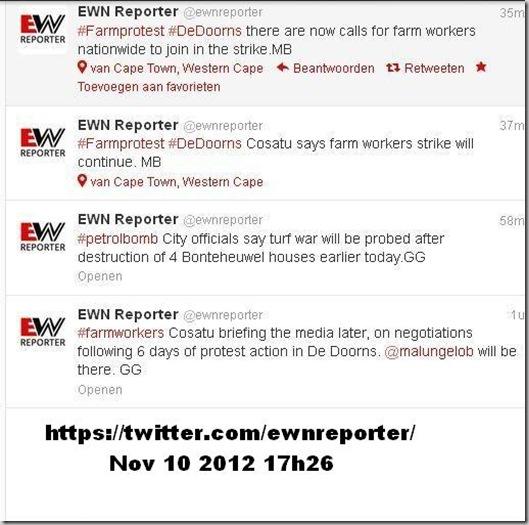 DE DOORNS COSATU CALLS ON FARMWORKERS NATIONWIDE TO STRIKE NOV102012
