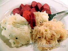 Venison Bologna - Sauerkraut - Potatoes