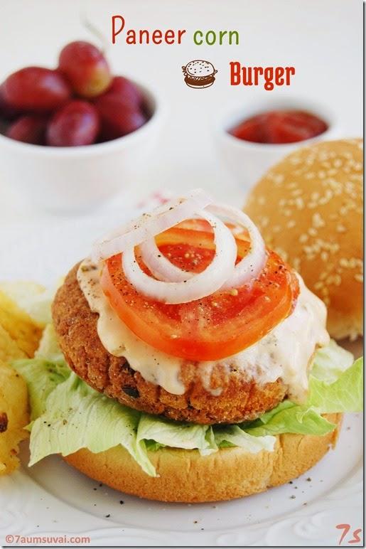 Paneer corn burger pic 3