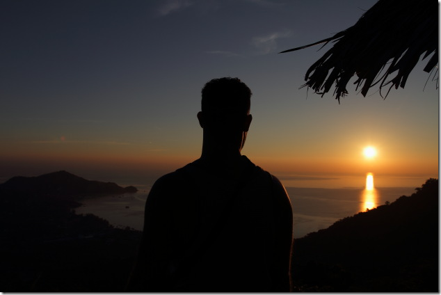 Watching the sunset from Mango view point, Koh Tao