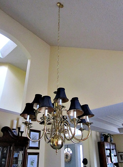 Brass Chandeliers Makeover At The Picket Fence – Chandelier Makeover Ideas