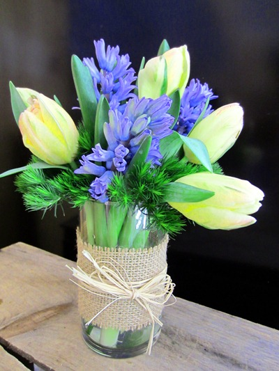 spring wedding flowers - tulips and hyacinth