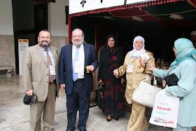 """Congreso Internacional: """"EL ISLAM CERCANO: 1.300 años del nacimiento de al-Andalus"""". Chelo Pérez (Jadiya), Cherifa Ben Hassine, Amparo Sánchez Rosell, Juan Martos Quesada y Oussama El Azzuni."""