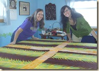 mommy and me with quilt back