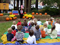 The preschool pumpkin patch was filled with guest readers such as Mrs. Eleanor Taylor (Cat in the Hat) and Mr. Murray.