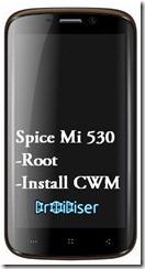 Spice Mi 530 Root Install Clockworkmod