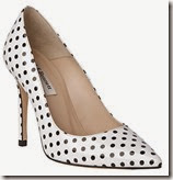 LK Bennett Stiletto Heeled Court in Black and White