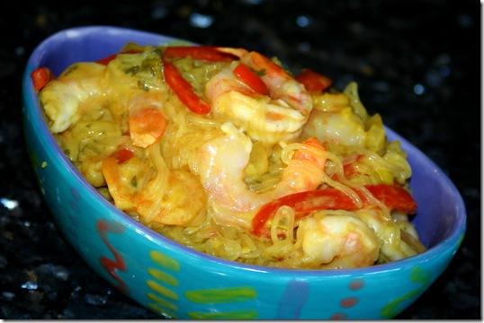 Thai Curry Shrimp with Shirataki Noodles