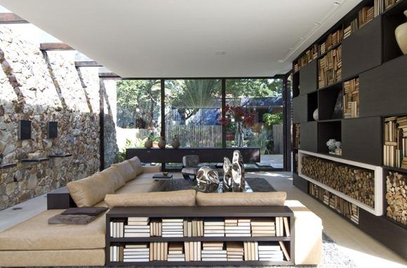 diseño de una casa imponente donde el exterior y el interior se