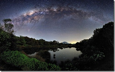 The Milky Way View from the Piton de l'Eau, Reunion Island