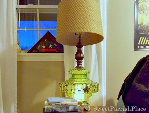 Vintage Green Lamp1