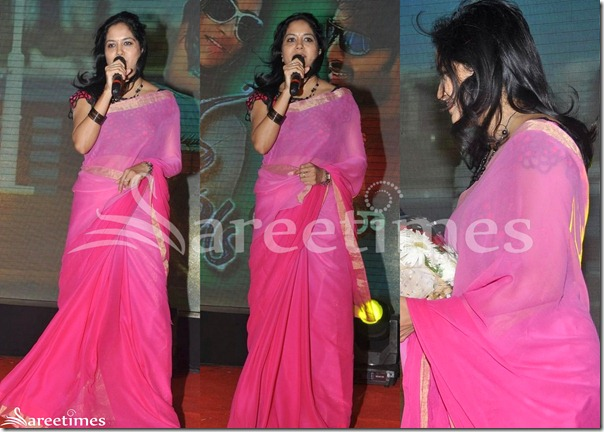Sunitha_Pink_Plain_Georgette_Saree