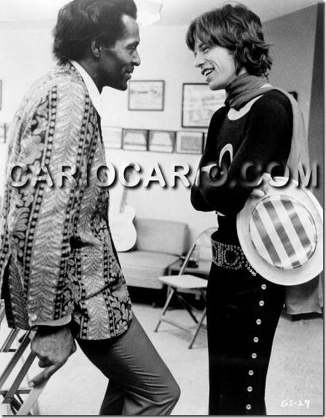 Chuck Berry e Mick Jagger