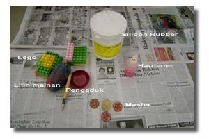 bahan-bahan dan alat bantu untuk membuat cetakan silicone rubber