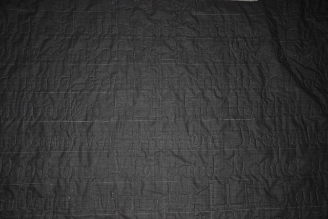 Papas Quilt FMQ before washing