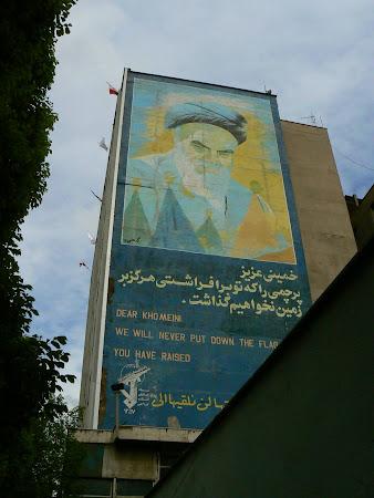 Murals of Teheran: Paintings of Khomeini