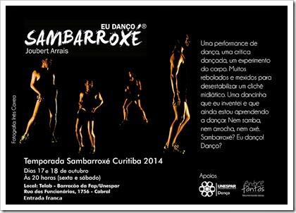 Sambarroxé Curitiba 2014 eflyer
