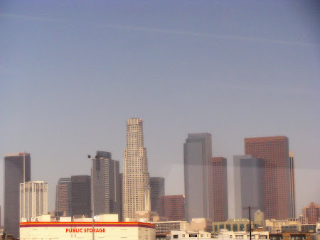 Imagini Los Angeles: Downtown LA - vazut din... tren