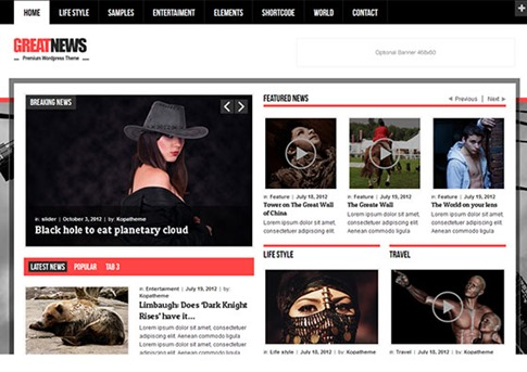 Magazine para portal de noticias