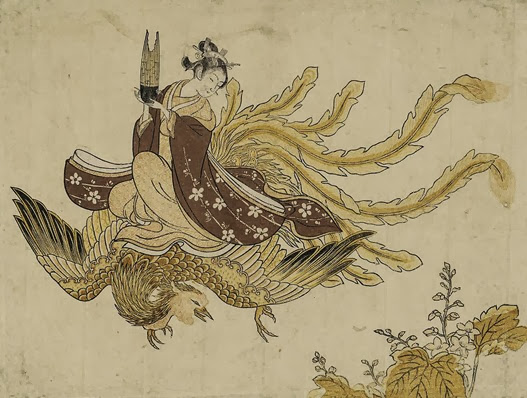 Woman Riding a Phoenix